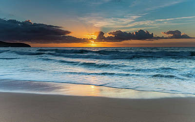 Sun Glow Seascape Art Print