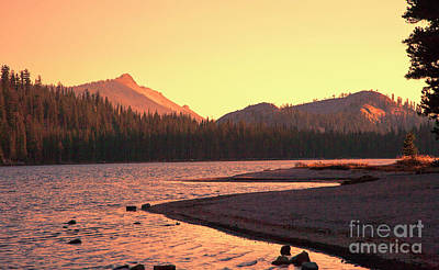 Photograph - Sun Glow Yosemite National Park Ca by Chuck Kuhn