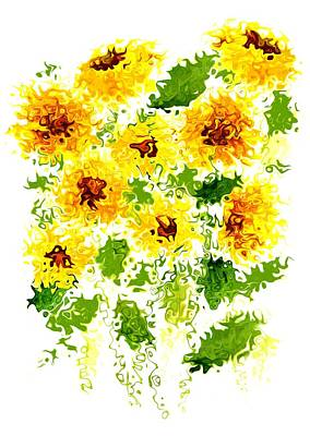 Mixed Media - Sun-kissed Sunflowers by Steven Clarke