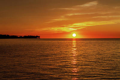 Photograph - Sun Over Lake Ontario by Jack R Perry