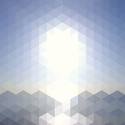 Digital Art - Sun Over The Sea - Abstract Geometric by Bgblue