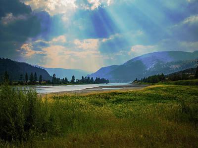 Photograph - Sun Ray River by David Heilman