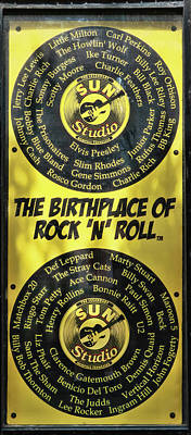 Photograph - Sun Records - The Birthplace Of Rock ' N ' Roll by Allen Beatty