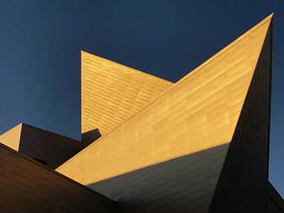 Photograph - Sun Sets On Denver Art Museum 2 by Marilyn Hunt