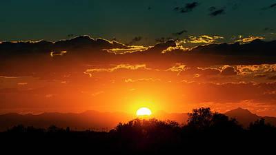 Photograph - Sun Setting On Arizona  by Saija Lehtonen