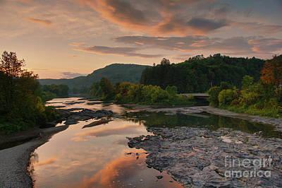 Photograph - Sun Setting Over White River by Daniel Brinneman