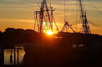 Photograph - Sun Shining On Shrimp Boat by Cynthia Guinn