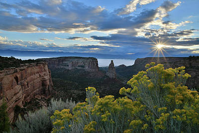 Photograph - Sun Star Over Independence Canyon by Ray Mathis