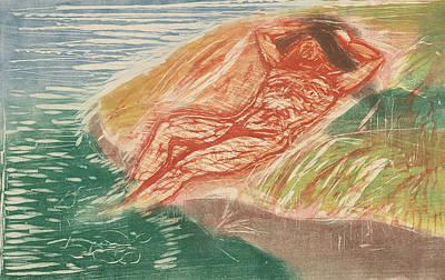 Relief - Sunbathing I by Edvard Munch