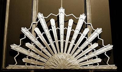Photograph - Sunburst Art Deco Sepia by Marilyn Hunt