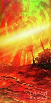 Painting - Sunburst by Michael Silbaugh