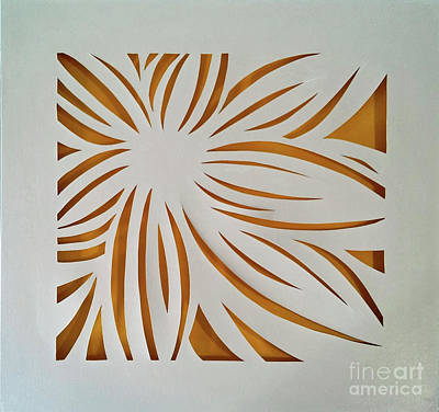 Mixed Media - Sunburst Petals by Phyllis Howard