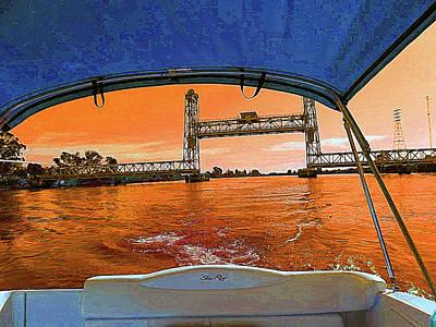 Digital Art - Sundancer Cruising The Delta by Joseph Coulombe