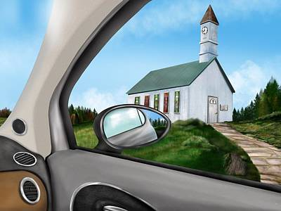 Digital Art - Sunday Drive To Church by Mark Taylor