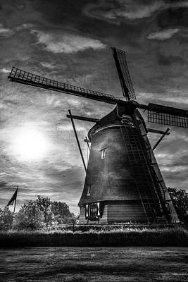 Photograph - Sundown Over Holland In Black And White by Debra and Dave Vanderlaan