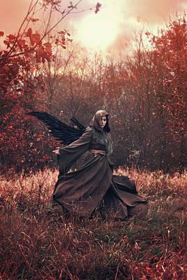 Autumn Digital Art - Sunfall by Cambion Art
