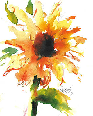Painting - Sunflower Too - A Study by Jacki Kellum
