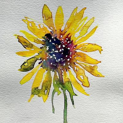 Painting - Sunflower Close Up by Julia S Powell