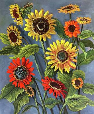 Painting - Sunflower Days by Randy Burns