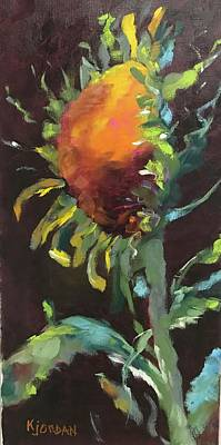 Karen Jordan Wall Art - Painting - Sunflower Delight by Karen Jordan