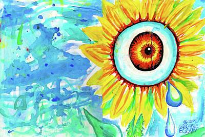 Sunflower Eye With Tear Drop Original