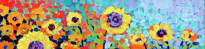 Abstract Shapes Janice Austin - Sunflower Slice by Jennifer Lommers