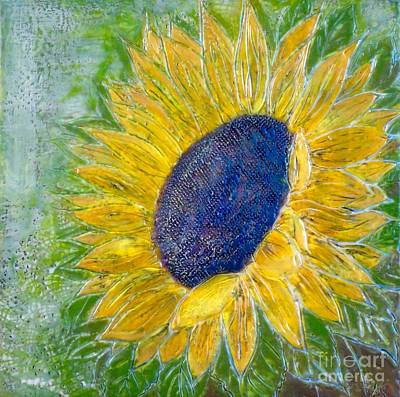Sunflower Praises Art Print