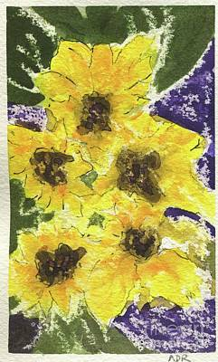 Painting - Sunflowers by Andrea Rubinstein