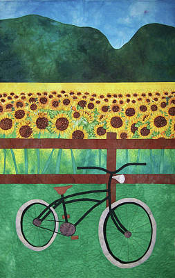 Sunflowers At Whitehall Farm Art Print