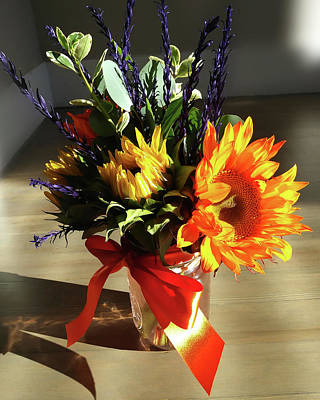 Photograph - Sunflowers Autumn Bouquet  by Irina Sztukowski