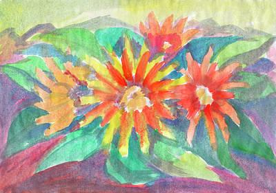 Painting - Sunflowers by Irina Dobrotsvet