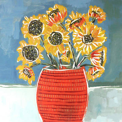 Wall Art - Painting - Sunflowers by Kaley Alie