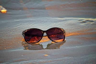 Photograph - Sunglasses On The Beach by Cynthia Guinn