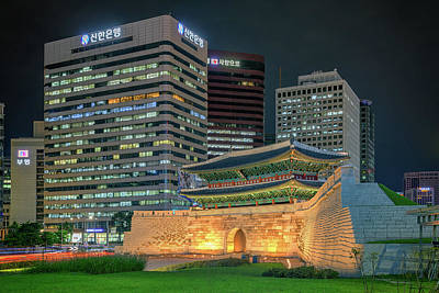 Photograph - Sungnyemun At Night by Rick Berk