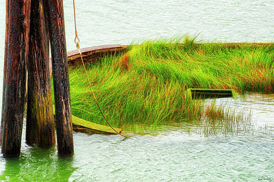 Photograph - Sunken Hull by Dee Browning