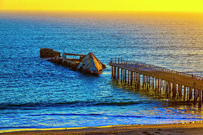 Photograph - Sunken Ship Pacific Ocean by Garry Gay