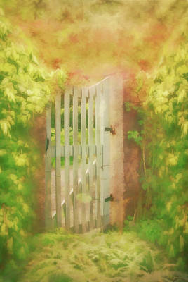 Digital Art - Sunkissed Garden Gate by Marilyn Wilson