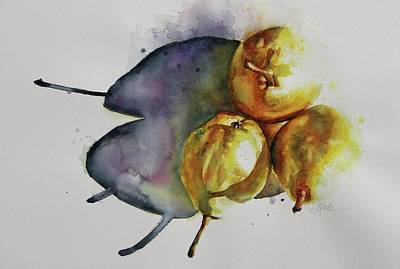 Painting - Sunkissed Pears by Tracy Male