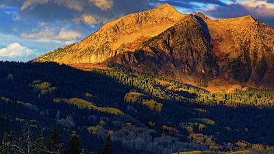 Photograph - Sunlight Along The Mountain by John De Bord