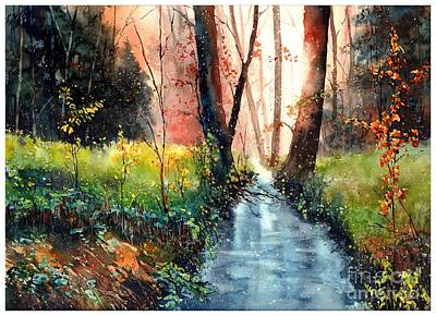 Asheville Wall Art - Painting - Sunlight Colorful Path by Suzann's Art