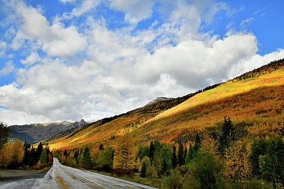 Photograph - Sunlight On Fall Colors Along Million Dollar Highway by Ray Mathis