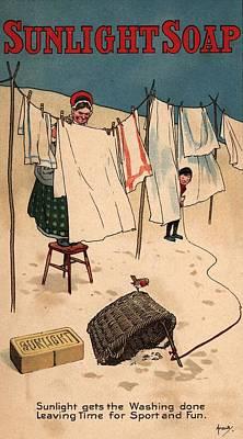 Sunlight Soap Art Print by Hulton Archive