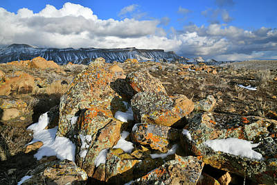 Photograph - Sunlit Boulders At The Book Cliffs by Ray Mathis