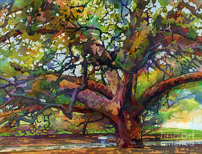 Fashion Paintings - Sunlit Century Tree by Hailey E Herrera