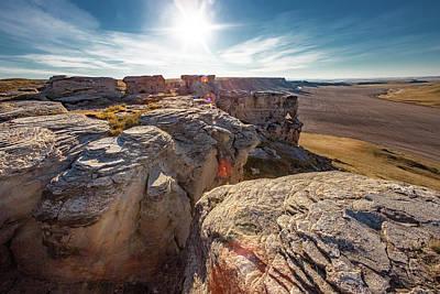 Photograph - Sunny Badlands by Todd Klassy