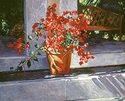Painting - Sunny Bougainvillea by David Lloyd Glover