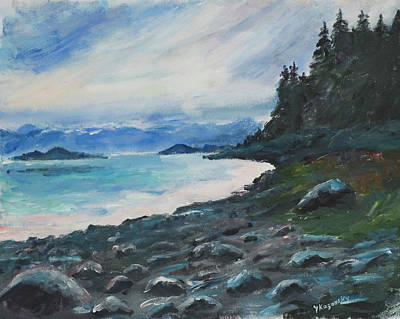 Painting - Sunny Cove Alaska by Yulia Kazansky