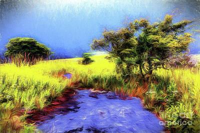 Painting - Sunny Creek Ap by Dan Carmichael