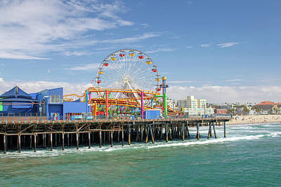 Photograph - Sunny Day On The Santa Monica Pier by Kristia Adams