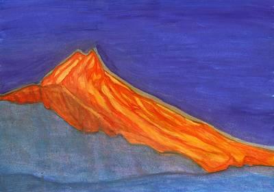 Painting - Sunny Mountain Peak by Dobrotsvet Art